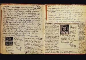 Diario de Ana Frank abierto