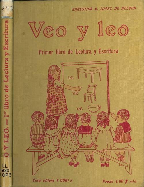 Tapa del libro Veo y Leo de Ernestina A. Lopez de Nelson