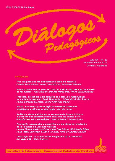 Tapa Diálogos Pedagógicos N° 31