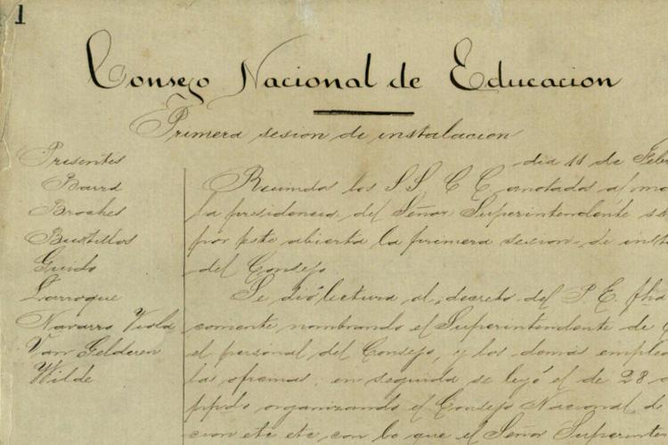 Primer Acta Consejo Nacional de Educación