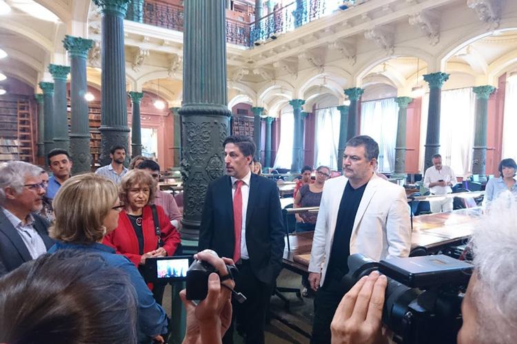 El ministro Nicolás Trotta nos visita en el #150AniversarioBNM