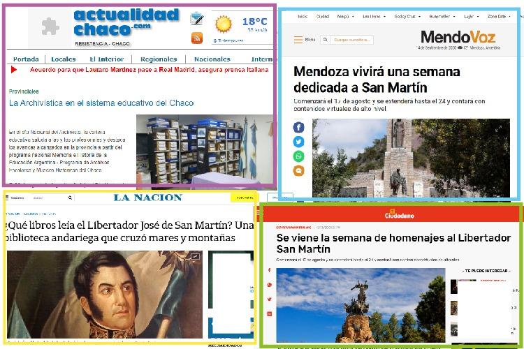 Tapas de los diarios con noticias de la bnm