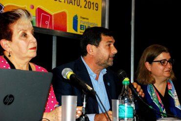 Elsa Barber (BNMM), Alejandro Santa (BCN) y Mariana Alcobre (BNM)