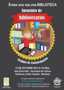 Flyer del Encuentro regional de bibliotecarios