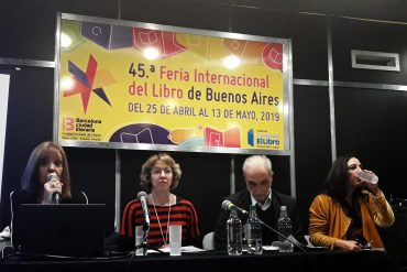 Patricia Repetto (Ed. Hola Chicos), Alina Baruj (Ed. Tinta Fresca), Diego Barros (Editorial AZ) y Graciela M. Valle (Ed. Santillana)